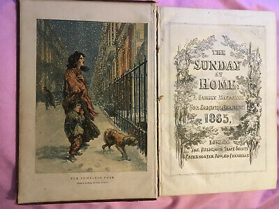 The Sunday At Home Original Book 1865 Family For Sabbath Reading Jan-Dec • 18.99£