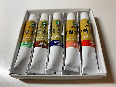 Chinese Brush Painting Color Tube Pack Of 5 Sumi-e Japanese Water Color Craft • 10.95£