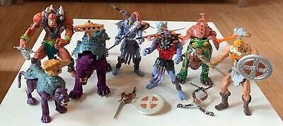 $100 • Buy 2001--He-Man Masters Of The Universe Lot, Action Figures Weapons BATTLECATS