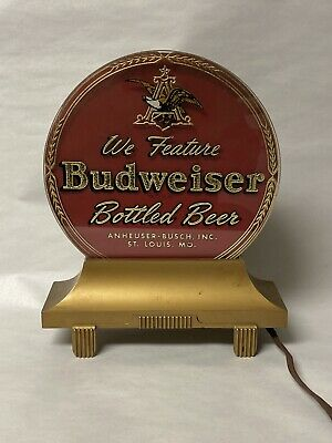 $ CDN979.99 • Buy Vintage Anheuser-busch Budweiser Beer Reverse Painted Glass Lighted Sign