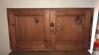 Antique Pine Old Wall Cabinet Cupboard 1800s Victorian • 50£