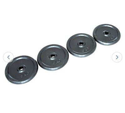 """$ CDN121.71 • Buy 20kg Pro Fitness Cast Iron Weight Plates 4 X 5 Kg  (BRAND NEW & BOXED) 1"""""""