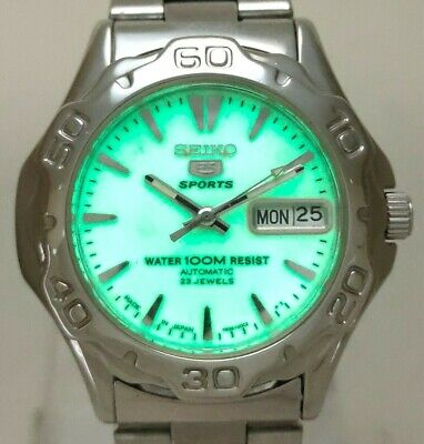 $ CDN44.51 • Buy Used Seiko 5 Sports Diver SNZ305 Japan 7S36-00A0 Luminous Dial Automatic Watch