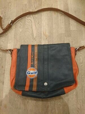 Gulf Racing Grand Prix Originals Spirit Of Racing Lap Top Man Leather Bag • 10.50£