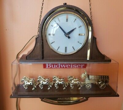 $ CDN194.69 • Buy Vintage Budweiser Clock Sign World's Champions Clydesdale Team Anheuser Busch