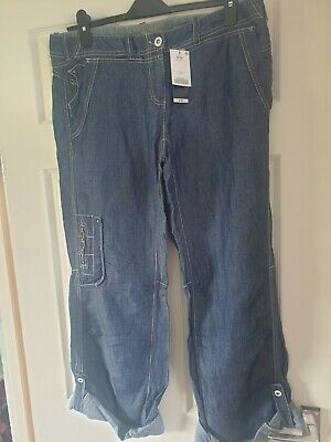 Next Slouch Cropped Jeans ~ 14 Long RRP £38 ~ BNWT • 8£