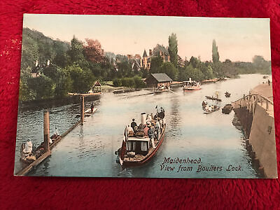 Maidenhead, View From Boulters Lock. Printed Postcard • 1.99£