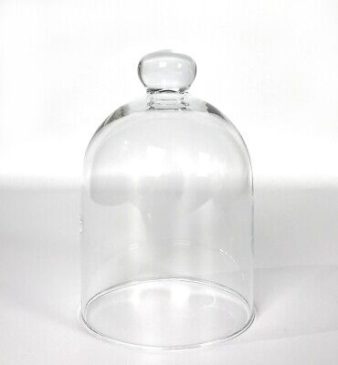 £14.90 • Buy Small Mouth Blown Glass Display Cover Cloche Bell Jar Dome Centrepiece 15 Cm