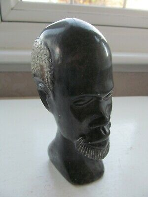 Vintage Carved Soapstone African Man's Head • 3.99£