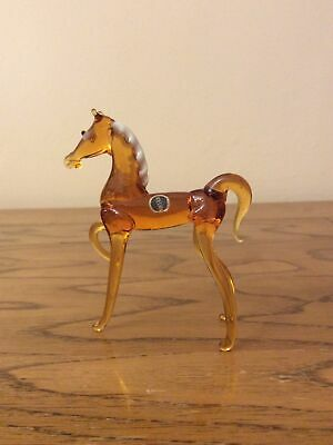 Vintage Murano Style Glass Animals Horse • 3.80£