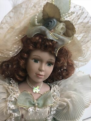 $ CDN13.05 • Buy Duck House Heirloom Dolls Victorian Porcelain Doll 18  Green Tapestry Lace