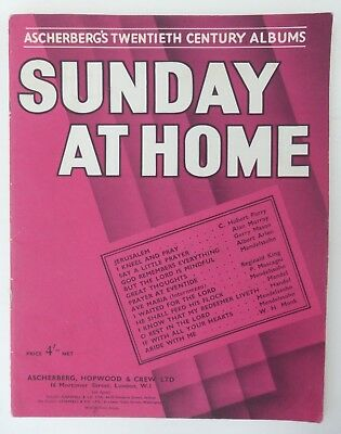 Sunday At Home Ascherberg's Twentieth Century Albums Sheet Music Book • 5£