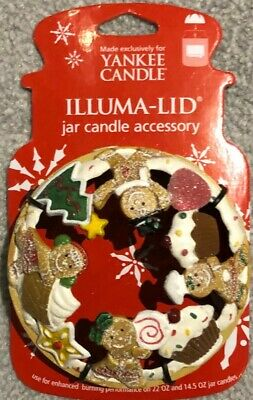 Yankee Candle Gingerbread Illuma Lid Fits Medium / Large Jars Very Collectable • 2.20£