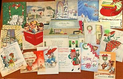 $ CDN4.25 • Buy Vintage Christmas Pop Up Greeting Cards (Another) Lot Of 16!
