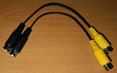 £8.62 • Buy Two 7-pin S-video Mini Din (male) To Composite Rca (femail) Video Adapter Cable