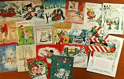 $ CDN1.29 • Buy Vintage Christmas Pop Up Greeting Cards Lot Of 19 - So Much Fun!