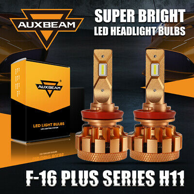 AU73.99 • Buy AUXBEAM H11 H8 H9 LED Headlight Kit Globe Bulbs High Or Low Beam 70W Super White