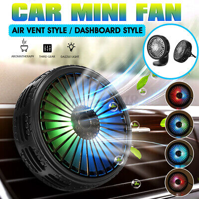 AU16.14 • Buy USB Car Fan Air Vent Clip & Dashboard Cooling Cooler LED Light Aromatherapy AU