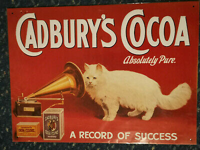 £14.95 • Buy Cadbury's Cocoa Advert Cafe Retro Steel Tin Metal Wall Vintage Decor Sign