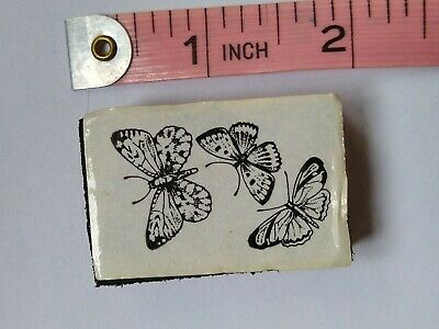 Foam Mounted Butterfly Rubber Stamp • 0.99£