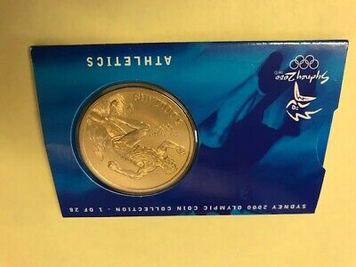 Australian Sydney 2000 Olympic Uncirculated Mounted A$5 Coin - Athletics • 6.03£