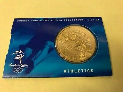 Australian Sydney 2000 Olympic Uncirculated Mounted A$5 Coin - Athletics • 6.16£