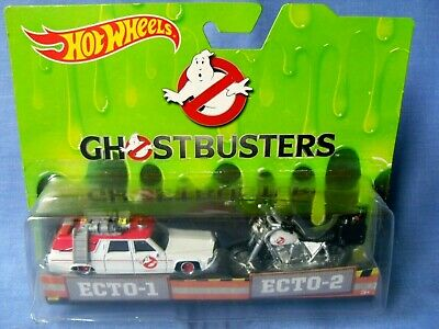 Hot Wheels Ghostbusters 1/64 Scale Diecast - Ecto-1 & Ecto-2 Car & Motorbike.  • 4.99£