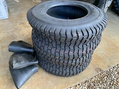 16x650-8 16x6.50-8 Ride On Lawn Mower Tractor Golf Turf  PAIR OF TYRES & TUBES • 19.99£