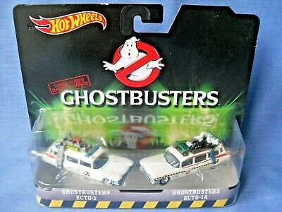 Hot Wheels Ghostbusters 1/64 Scale Diecast - Ecto-1 & Ecto-1A Ambulances - MOC. • 8£