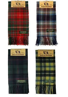 Ingles Buchan Pure Lambswool Clan Scarf In Various Tartans - Made In Scotland • 17.50£