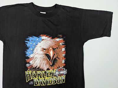 $ CDN95 • Buy Vtg 3D Harley Davidson Tee - 1990 Screaming Eagle