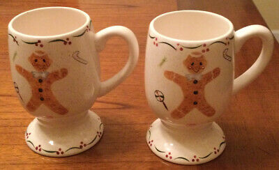 $11.99 • Buy Gingerbread Man Cosmos Gifts Corp Christmas Set Of 2 Mugs Cups