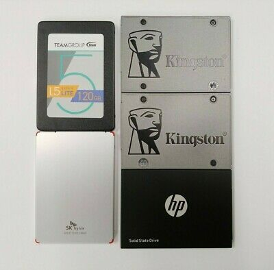 $ CDN129.60 • Buy LOT OF 5 - 120GB SSD Kingston, HP, SK Hynix, Etc. 2.5  SATA Solid State Drive
