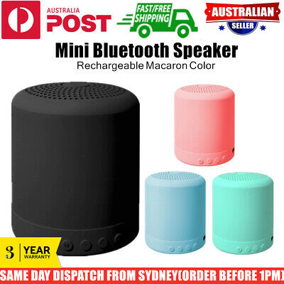 AU15.95 • Buy Mini Bluetooth Speaker Rechargeable Macaron Subwoofer Stereo Portable Car Shower