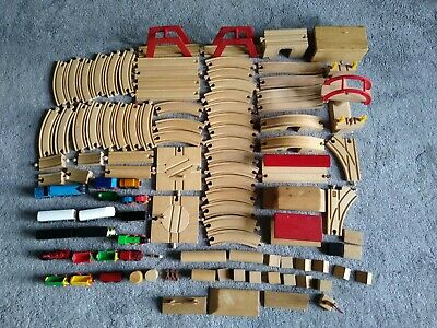 Wooden Brio And Brio Compatible Toy Train & Track Set Bundle, 104 Pieces • 45£