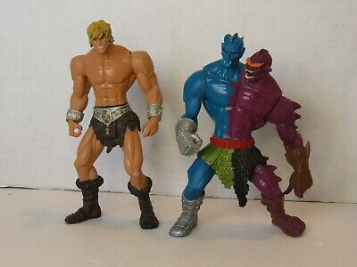$24.99 • Buy Masters Of The Universe 200X Heman And Two Bad Motu Action Figure Lot Loose