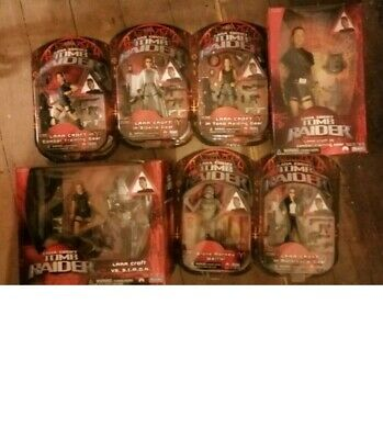 Lara Croft Tomb Raider Action Figures Full Set Plus Simon. Mint. .  • 90£