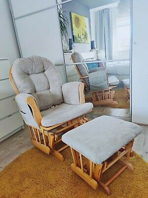 Dutailier Glider Nursing Maternity Rocking Chair With Stool • 75£