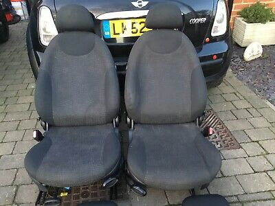 BMW Mini Cooper One R50 Cloth Interior Rear Seat Seats • 10£