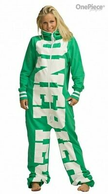 OnePiece Of Norway Green All In One  Jump Suit Size 10 Small  Sleep Lounge • 5.20£