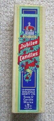RARE 1935 CWS Advertising Candles - Silver Jubilee King George VI And Elizabeth • 18£