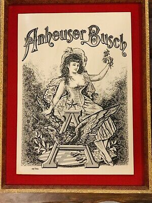 $ CDN648.78 • Buy 5 Vintage BUDWEISER Wall Plaque Signs, Numbered, Rare, Faux Marble, Etched