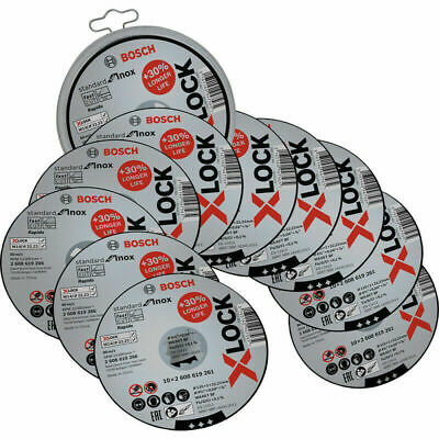 £9.95 • Buy Bosch X-Lock Cutting Discs Pack Of 10 In Tin Container 115mm / 125mm