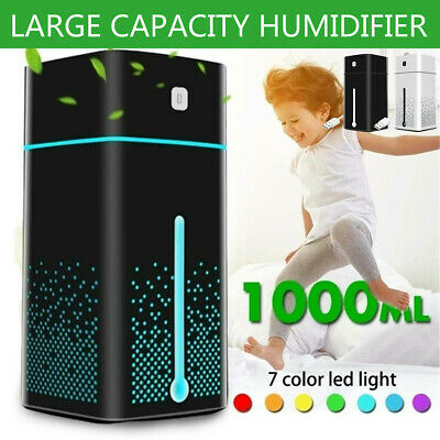 AU21.69 • Buy 1000ML USB Humidifier Air Diffuser Aroma Oil Humidifier LED Light Relax Defuser