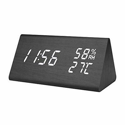 Digital Wood Clock, Minimalist Wood Alarm Clocks For Bedrooms, • 26.99£