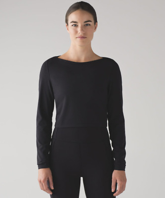 $ CDN14.27 • Buy NWT Women's Lululemon Simply Bare Cropped Long Sleeve Shirt Black 10