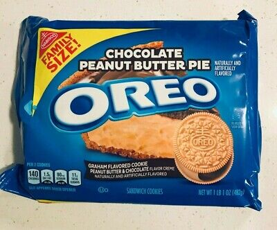 £11.05 • Buy NEW Nabisco Oreo Chocolate Peanut Butter Pie Cookies Family Size