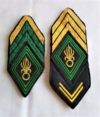 2 French Foreign Legion Rank Insignia Patches • 30£