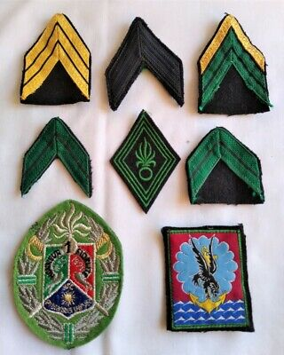 Assorted French Foreign Legion Cloth Patches And Rank Insignia • 25£