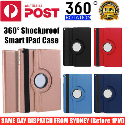 AU11.95 • Buy For Apple IPad Smart Rotate Leather Shockproof Case Cover 9.7  10.2  10.5  Pro